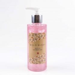 Accentra Bath & Shower gel WILD BERRY, dispenser 200ml, light pink glittering icy white, Vanilla-Rose