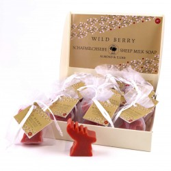 Accentra Sheep milk soap WILD BERRY, handmade, in org. bag, 20g, Almond & Elder display/24ce